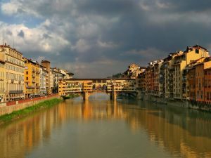 Ponte Vecchio and the Arno river, Florence