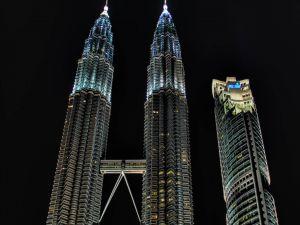 Petronas Towers in Kuala Lumpur city
