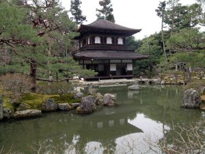 Oriental building surrounded by nature