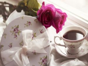 Cup of tea and some roses