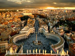 St. Peter's Square and the Vatican city