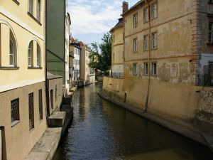 Narrow canal between the houses