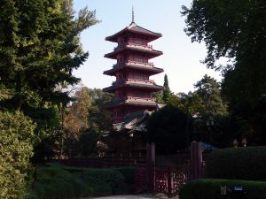 Pagoda surrounded by greenery