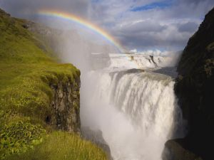 Rainbow at the waterfalls