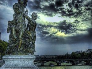 Bridge and a statue
