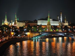 The Moskva river passing by Moscow