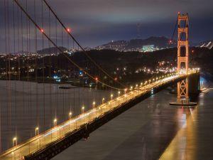 Highway in a great bridge