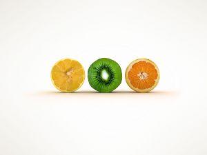 Lemon, kiwifruit and orange