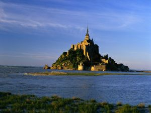 The island Mont-Saint-Michel, France