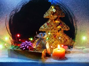 Christmas through the window