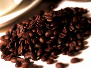 Mountain of coffee beans