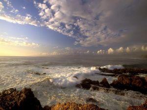 The sea and sky