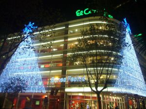 El Corte Ingles at Christmas (Diagonal 471, Barcelona, ​​Spain)