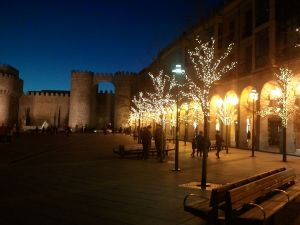 Christmas lights in Avila, Spain