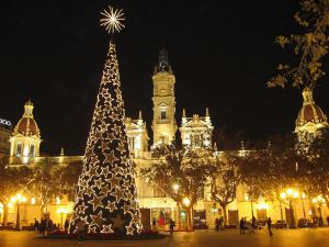 Christmas photo of the City Hall Valencia