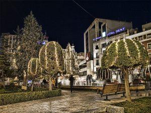 Altozano square at Christmas, Albacete