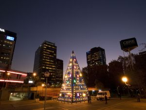 Christmas Lights in AZCA (Business Center and Offices in Madrid, Spain)