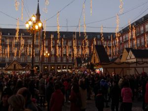 Christmas market in the Plaza Mayor, Madrid
