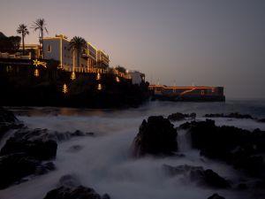 Christmas lights in Puerto de la Cruz, Tenerife (Spain)