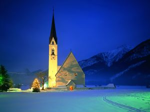 Church in the Christmas night