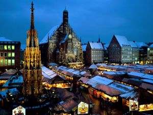 Christmas market in the church square