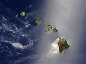Hawaii Islands from space