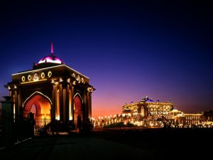 Night at the Emirates Palace Hotel, Abu Dhabi