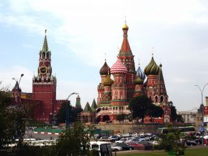 The Saint Basil's Cathedral and the Spasskaya Tower (Moscow)