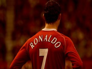Cristiano Ronaldo in the Manchester United F. C.