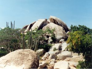 Rock formation near the town of Ayo (Aruba)