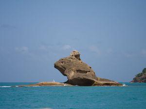 Rock formation in the sea (Antigua, Caribbean)