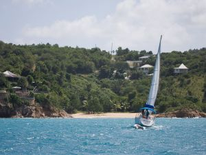 Sailing in Antigua (Caribbean)