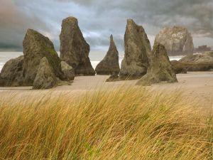 Big rocks on the beach