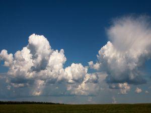Big white clouds