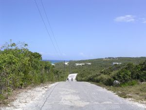 Road in Long Island, Bahamas