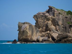 Rocky cliff in Antigua
