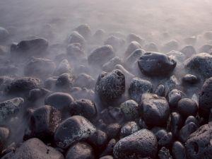 Big black stones