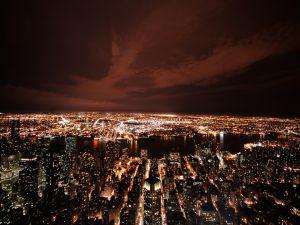 A fully illuminated city