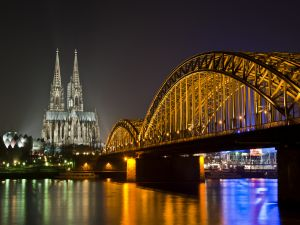 Bridge and Cologne Cathedral, Germany