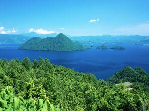 Green islands in the sea