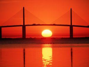The sun under the bridge