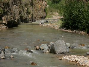 The water and the river stones