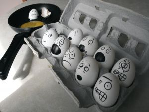 Frightened eggs