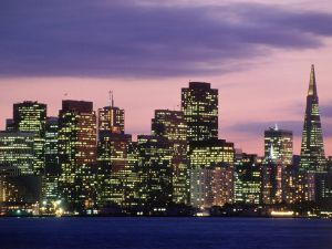 Night in the Financial District of San Francisco