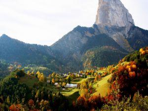 Autumn in a mountain village