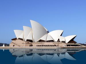 The building of the Sydney Opera