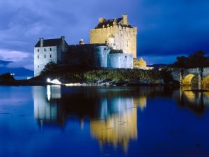 Night at the Eilean Donan Castle, Scotland