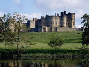 The Alnwick Castle in Northumberland, England