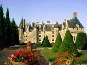 Gardens of the Château de Langeais, France