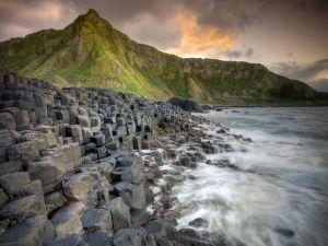 Stone cubes on the coast